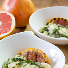 Gnocchi recipe with Grilled Asparagus and Grapefruit