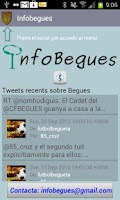 Screenshot of InfoBegues