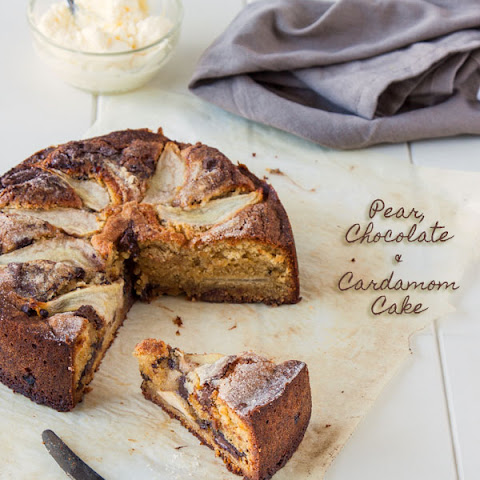 Pear, Chocolate & Cardamom Cake