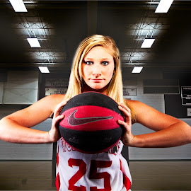 Intensity by Keith Bryant - Sports & Fitness Basketball ( basketball, girl, lighting, hdr, composite )