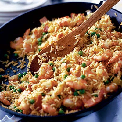 Spiced Rice With Prawns