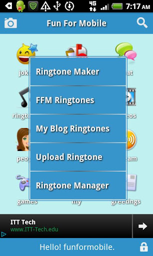 funformobile-ringtones-chat for android screenshot