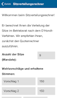 Screenshot of Betriebsratswahl 2014