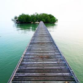 Road To My Secret island by Steven De Siow - Buildings & Architecture Bridges & Suspended Structures ( waterscape, walkway, seascape, bridge, island )