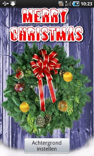 Christmas wreath Wallpaper