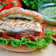 Grilled Chicken Club Sandwich with Pesto Mayo