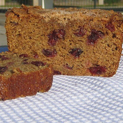Zucchini Bread with Dried Cranberries