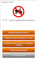 Screenshot of Quiz Placas de Transito