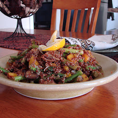 Asparagus & Red Quinoa Salad With Meyer Lemon Dressing