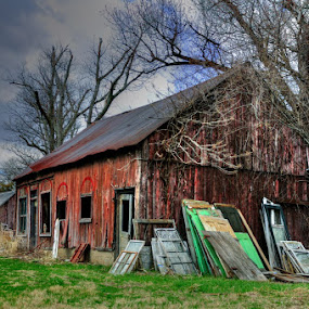 Barn by Dennis McClintock - Buildings & Architecture Decaying & Abandoned ( indiana, building, hamilton county, abandoned building, barn )