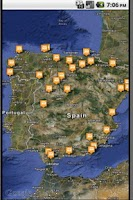 Screenshot of Rest Areas Spain
