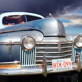 Weathered Ride by Joerg Schlagheck - Transportation Automobiles ( ride, trailer, old, twowheelsandacamera., blue, stylish, weather, rusty, olsmobile, weathered, land, device, transportation )