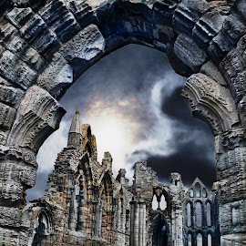 Whitby by Leon Chester - Buildings & Architecture Decaying & Abandoned ( night photography, night scene, night, ruins, architecture, nightscape )