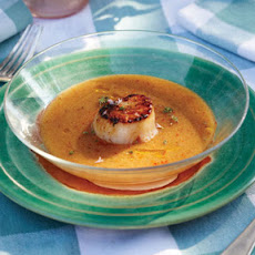 Stone Fruit Gazpacho with Scallops