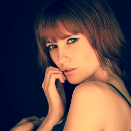 by Martin Dance - Nudes & Boudoir Artistic Nude ( sexy, shy, vulnerable, red head )
