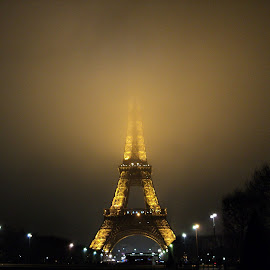 Cloudy Eiffel Tower by Ciprian Apetrei - Buildings & Architecture Statues & Monuments (  )