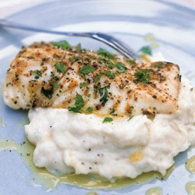 Grilled Halibut with Potato-Fennel Puree