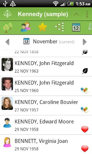 FamilyGTG - Family Tree - screenshot