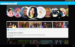 Screenshot of SVT Barnkanalen
