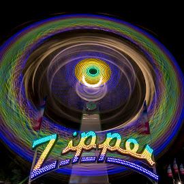 Zipper by Andy Chow - City,  Street & Park  Amusement Parks ( ride, minnesota, amusement park, state fair, midway )