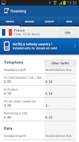 Screenshot of Swisscom Roaming Guide