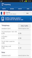 Screenshot of Swisscom Roaming Guide