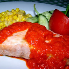 Broiled Salmon with Sweet Red Pepper Sauce