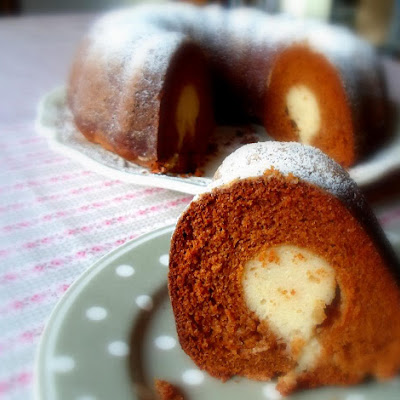 Ginger Cheesecake Filled Gingerbread
