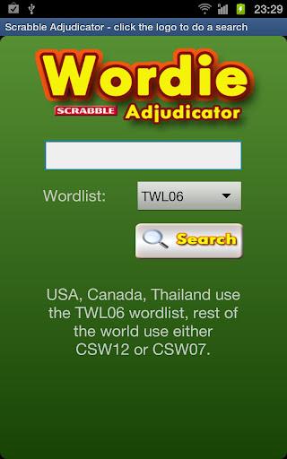 Wordie Scrabble Adjudicator