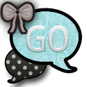 GO SMS THEME/TurquoisePolkaDot icon