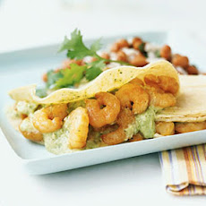 Spicy Shrimp Tacos with Tomatillo Salsa