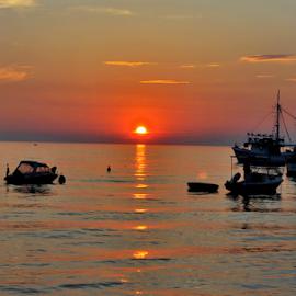 At sunset by Dragutin Vrbanec - Landscapes Sunsets & Sunrises ( sunset, summer, sea, adriatic sea )