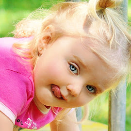 Na Na Na!!! by Cheryl Korotky - Babies & Children Child Portraits ( kids with tongues out, child model peyton, silly faces, a heartbeat in time photography, amazing faces, cute pictures, portrait )