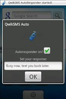 Screenshot of QwikSMS AutoResponder
