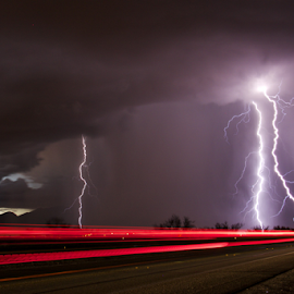 Delicate Sound of Thunder by Stephan Guenot - Landscapes Weather