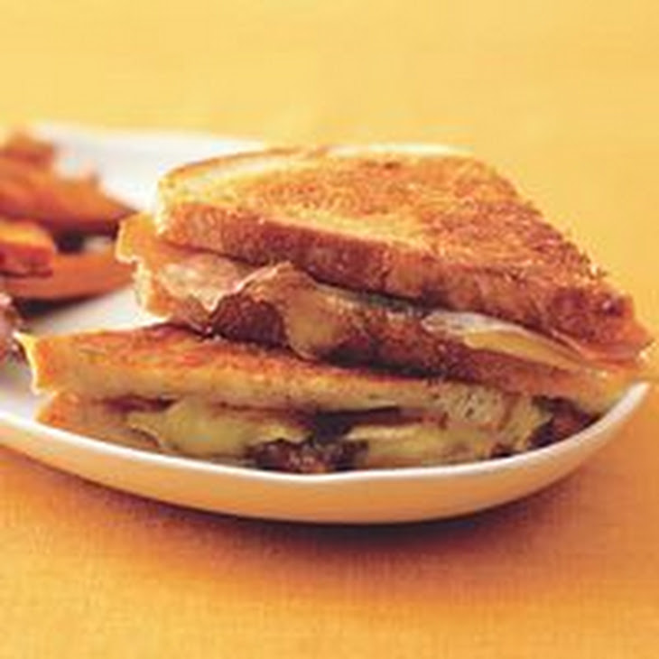 Grilled Brie and Fig Sandwiches with Sweet Potato Fries Recipe ...