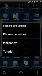Scotland flag clocks - screenshot