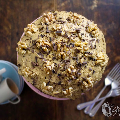 Gluten-Free English Coffee & Walnut Cake
