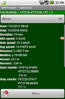 Screenshot of GPSTracker Lite