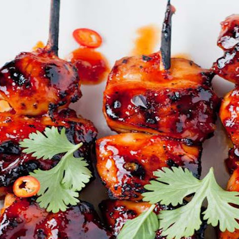 Mini Marinated Chicken Skewers