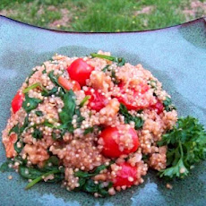 Quinoa, Spinach and Walnut Stir Fry