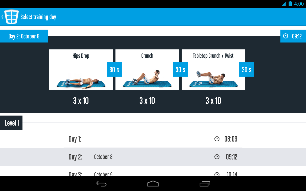 Runtastic Six Pack Ab Workout Screenshot 16