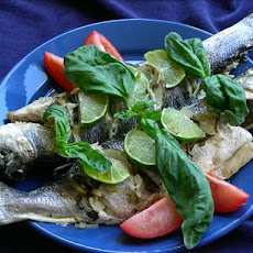 Baked Sea Bass With Herbs and Lime