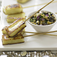 Halloumi Skewers With Parsley & Lemon Salsa