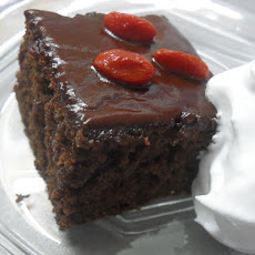 Oatmeal Brownies with Chocolate Ganache and Goji Berries