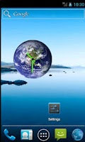 Screenshot of Earth Clock Widget