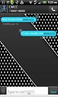 Screenshot of GO SMS THEME/BluePolkaDot