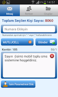 Screenshot of Toplu SMS