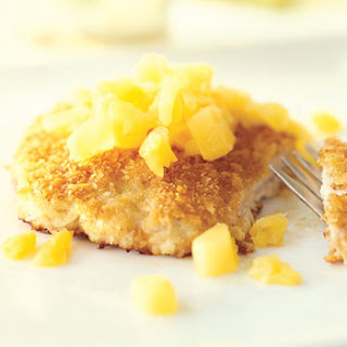 Panko Pork Cutlets with Pineapple and Ginger Salsa