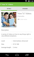 Screenshot of LearnEnglish Audio & Video